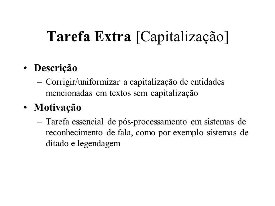 Tarefa Extra [Capitalização]